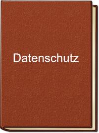 Ein rot-braunes Buch mit dem Aufdruck Datenschutzerklärung