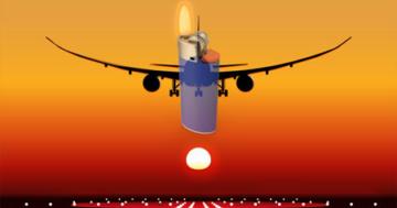 Feuerzeug und Flugzeug