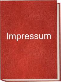 Ein rotes Buch mit dem Aufdruck Impressum