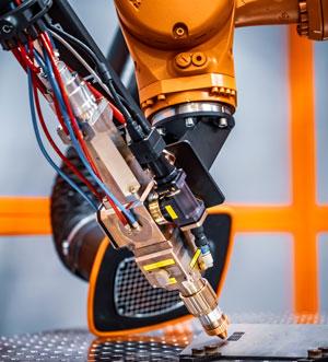 Roboter Fasergravur