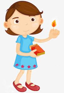 Kleines Kind mit Streichhölzer in der Hand